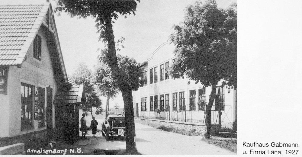 Kaufhaus Gabmann, Amaliendorf 1927.jpg