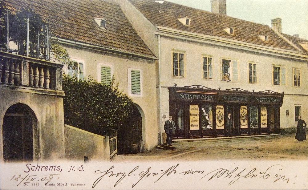 Kaufhaus Möstl 1908 Schrems 01.jpg