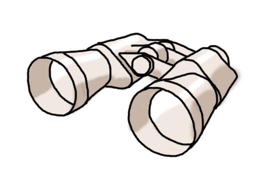 cartoon of a pair of binoculars