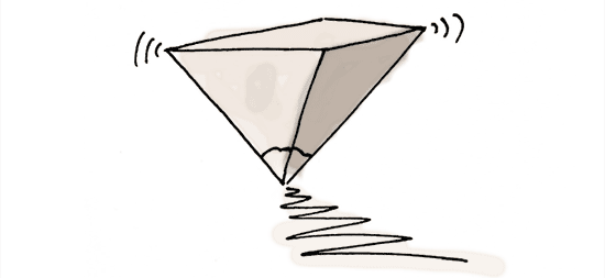 drawing of upside down pyramid