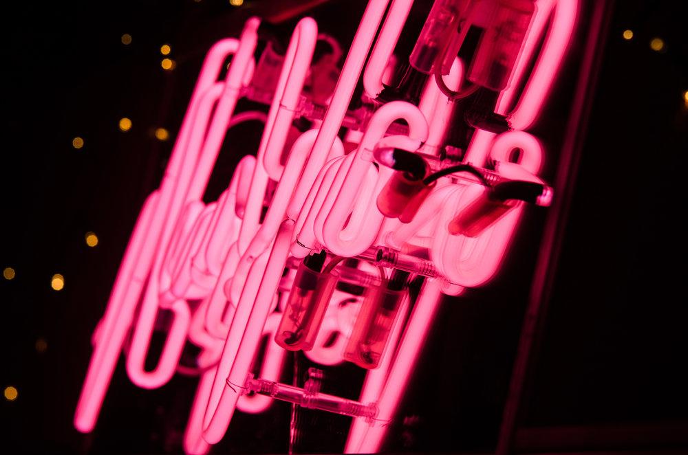 Near & Far Peckham neon By night.jpg