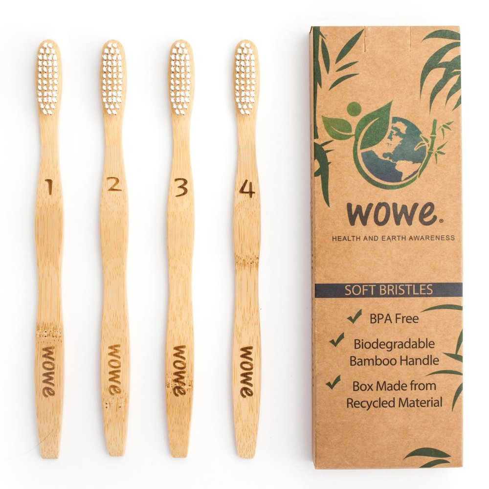 Natural Bamboo Toothbrush without Charcoal Infused Bristles (ABBYSFOODCOURT5 for 5% off)   WOWe Lifestyle
