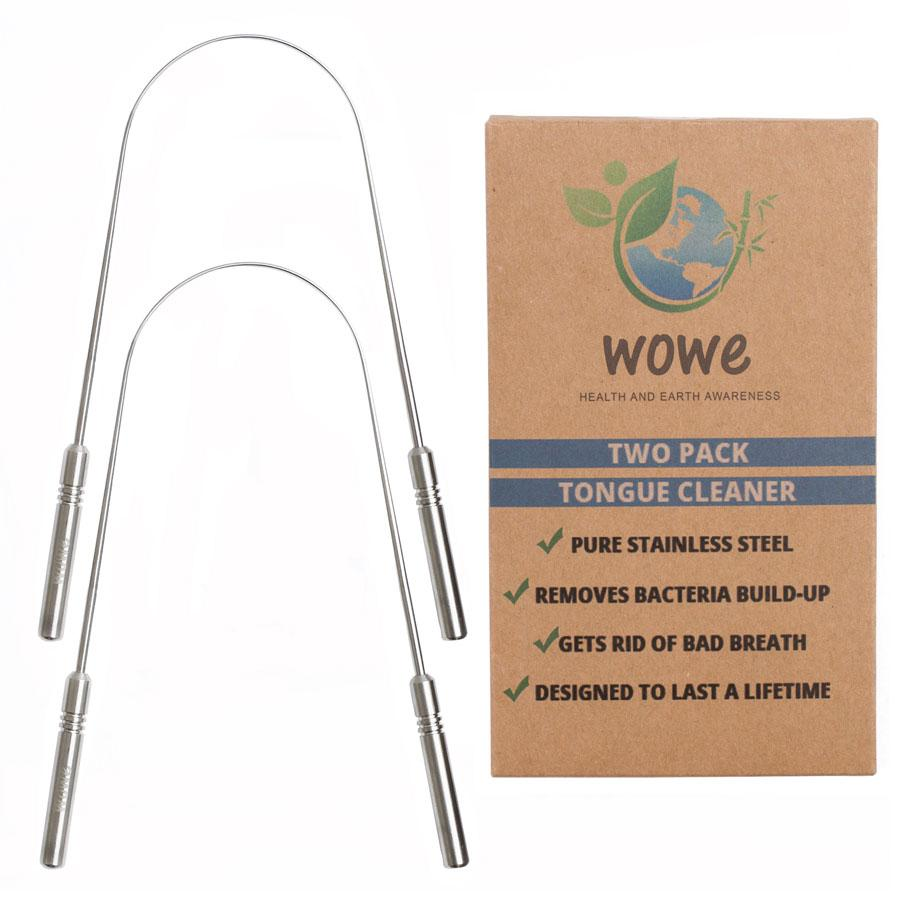 Stainless Steel Tongue Cleaner (ABBYSFOODCOURT5 for 5% off)   WOWe Lifestyle