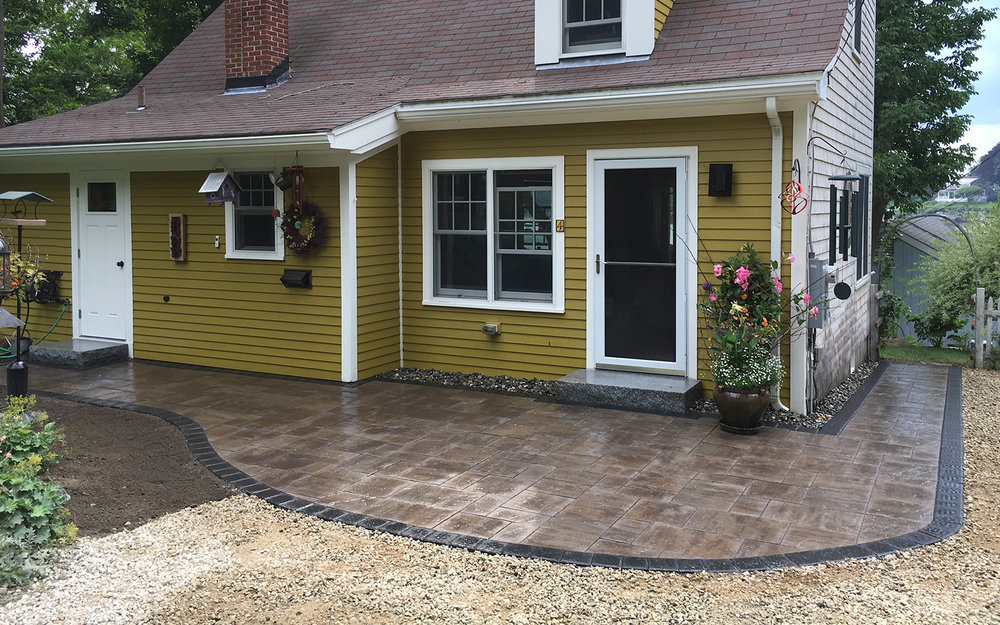 Pepperrell Road - Paver Patio & Entrance Way | Granite landings & More