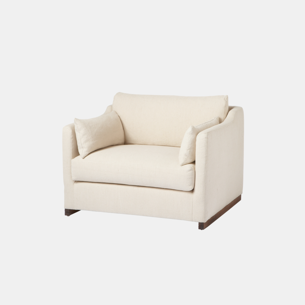 "Dexter Chair  41""w x 29""h x 38""d Also available as mini chair, loveseat, sofa, or sectional. SKU99482CSC"
