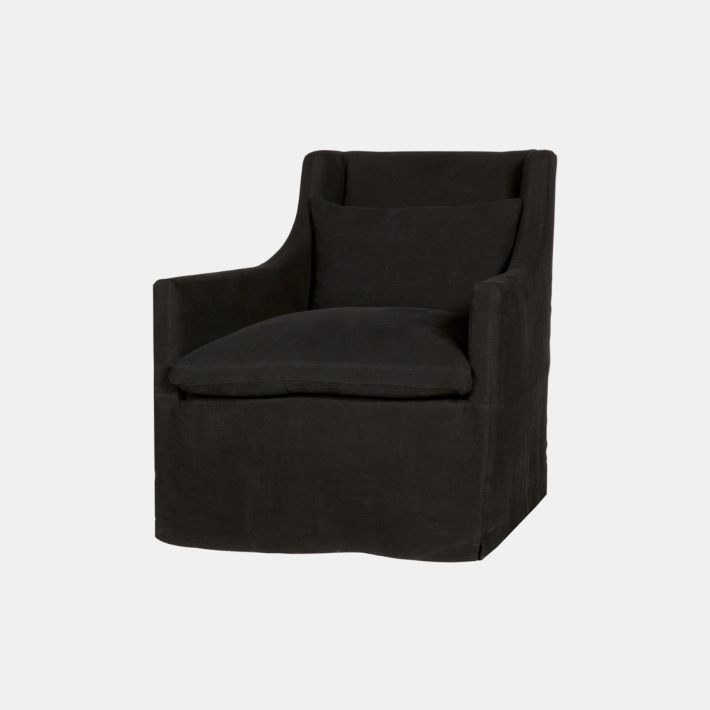 "Kenneth Chair  32""w x 35""h x 37""d Available slipcovered, upholstered, and with swivel. SKU14592CSC"