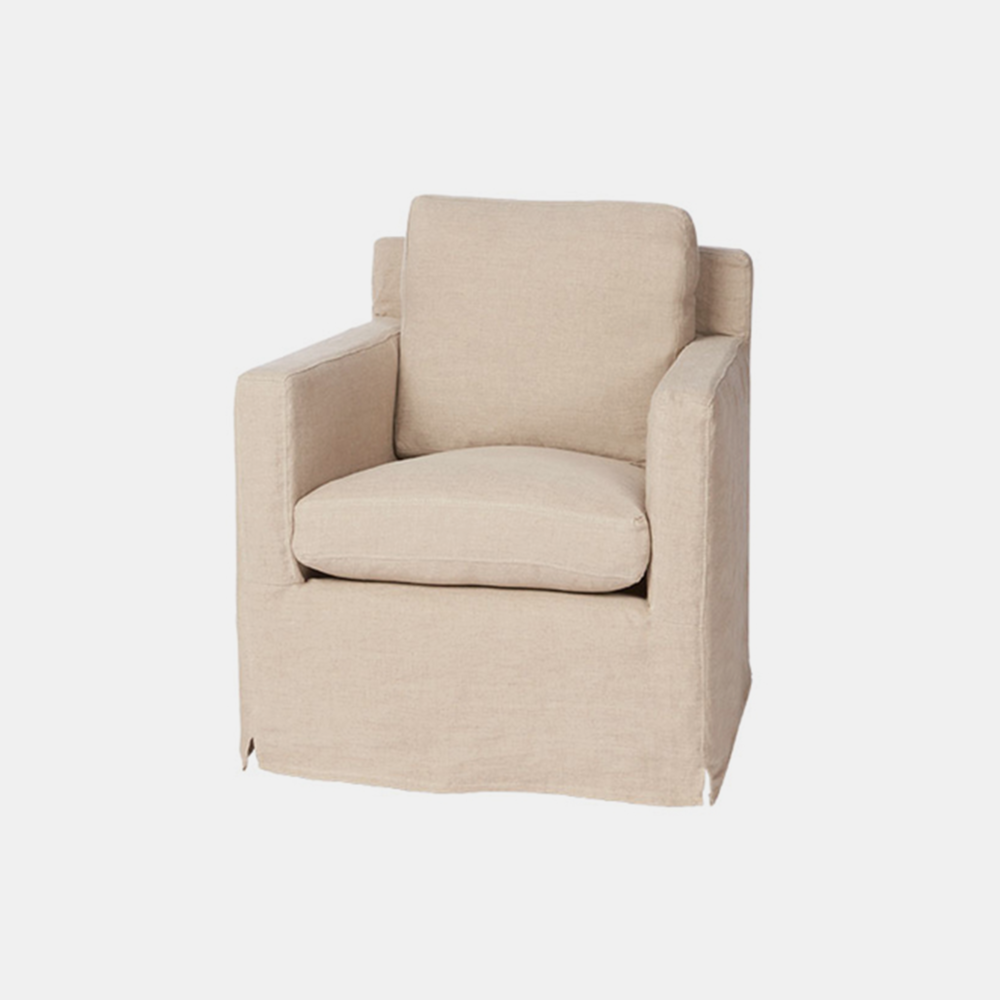 "Louis Mini Chair  28""w x 31""h x 30""d Available slipcovered, upholstered, and with swivel. Also available as chair and sofa. SKU1059CSC"