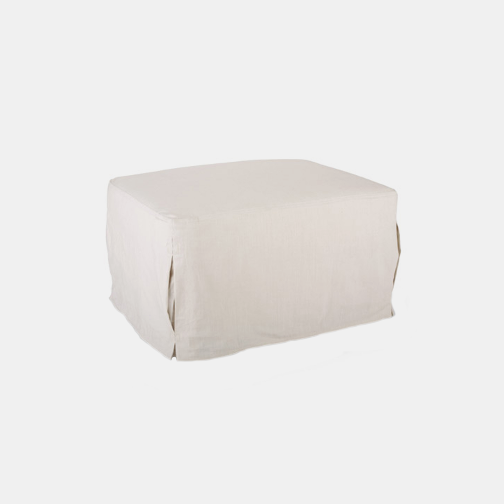 """Cordova Ottoman  30""""w x 17""""h x 24""""d Available slipcovered and upholstered."""