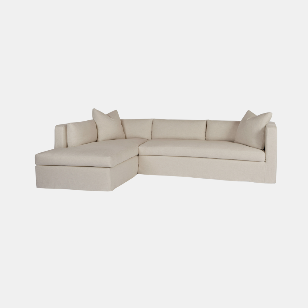 "Agosto Sectional  125""w x 28""h x 84""d  Available slipcovered and upholstered. SKU13892CSC"