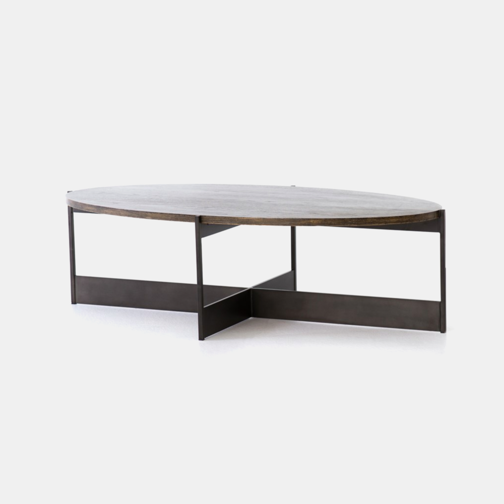 "Shannon Oval Coffee Table 55""w x 29.5""d x 15.75""h"