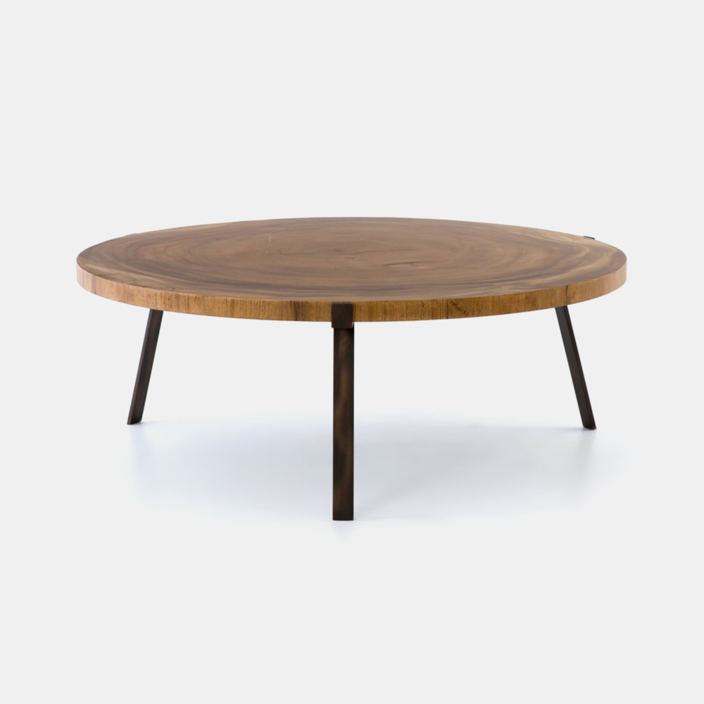 """Exeter Coffee Table  42.5""""w x 42.5""""d x 16""""h Available in blonde (shown) or smoked. SKU0098FHS"""