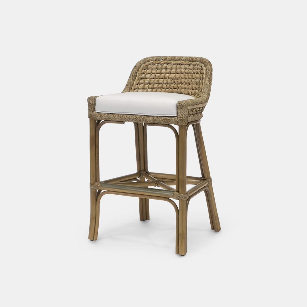 """Capitola Bar Stool  22.25""""w x 20.5""""d x 38""""h Available in 30"""" bar stool and 24"""" counter stool. SKU5739PLK"""