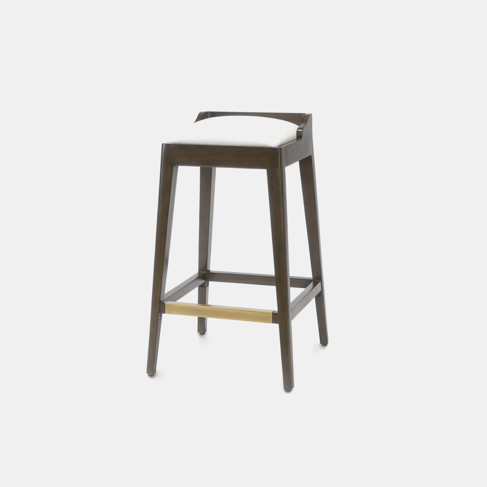 """Hawker Bar Stool  18""""sq x 18""""d x 30""""h Available in 30"""" bar stool and 24"""" counter stool. SKU0955PLK"""