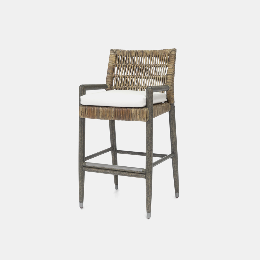 """Navarro Bar Stool  21.5""""w x 21.75""""d x 42""""h Available in 30"""" bar stool and 24"""" counter stool. SKU1957PLK"""