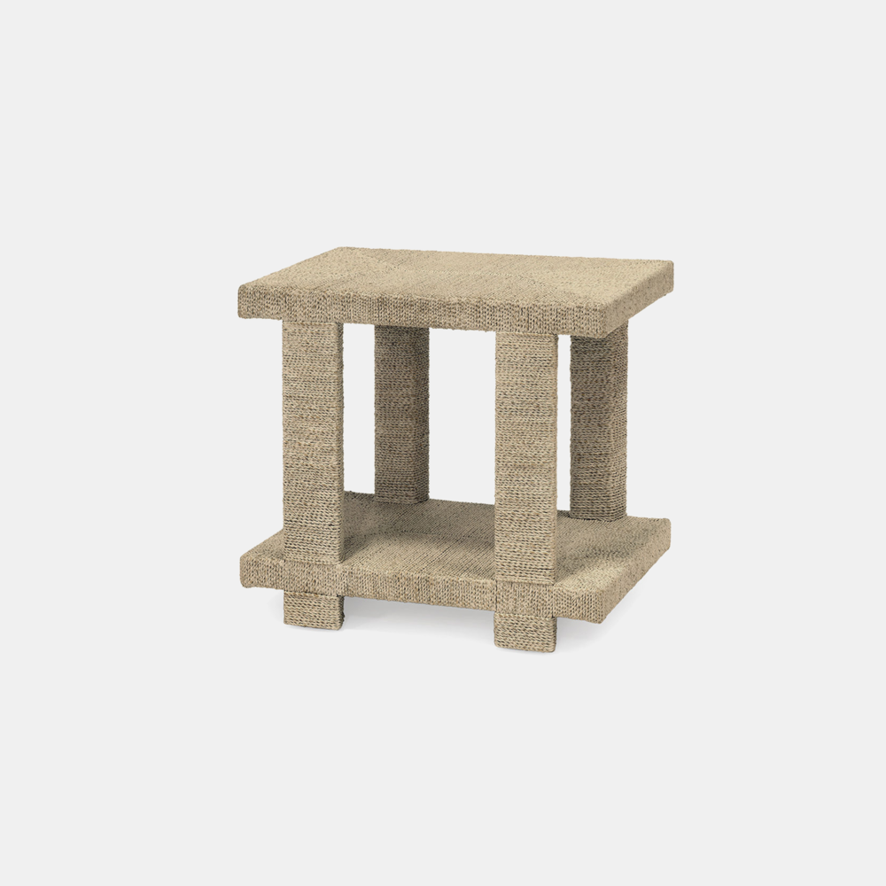 """Clint Side Table  24""""l x 16""""w x 22""""h Available in natural (shown) and white sand. Also available as coffee table and console table. SKU4785PLK"""