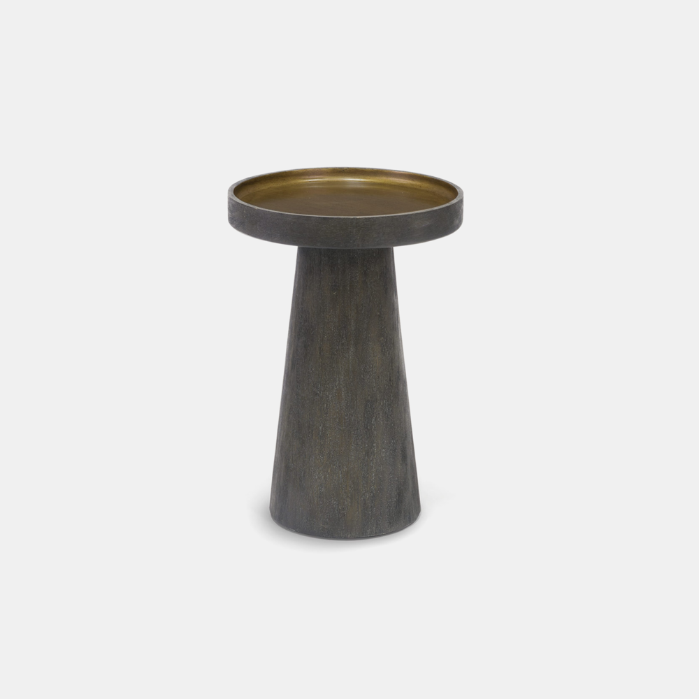 """Orson Side Table  15""""d x 22""""h Available in midnight (shown) and white. SKU4490PLK"""