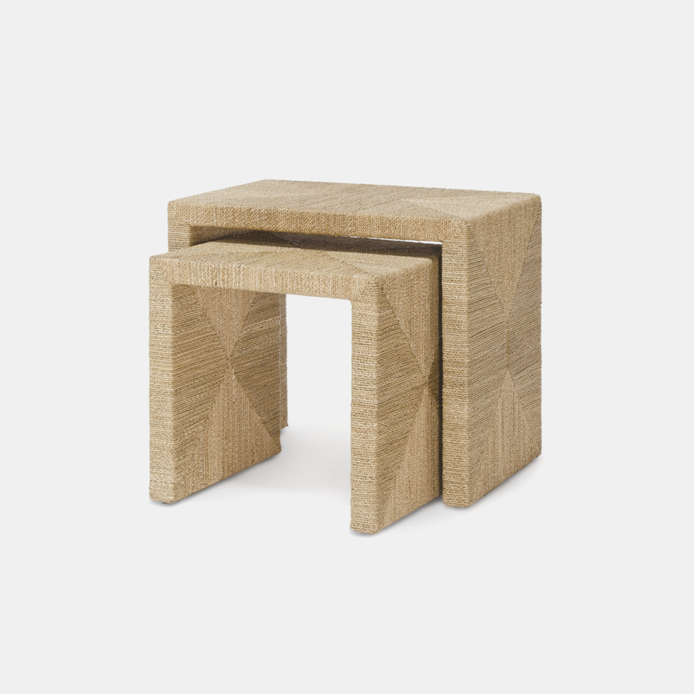 "Woodside Nesting Tables  Large: 23.75""l x 15.75""w x 20.5""h Small: 17.75""l x 15.75""w x 17.75""h"