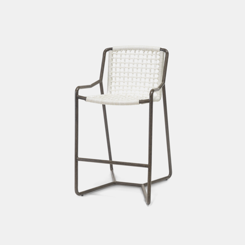 """Dockside Bar Stool  23.5""""w x 27.25""""d x 43.5""""h Available in 30"""" bar stool and 24"""" counter stool. Also available as lounge chair, dining chair, and ottoman."""