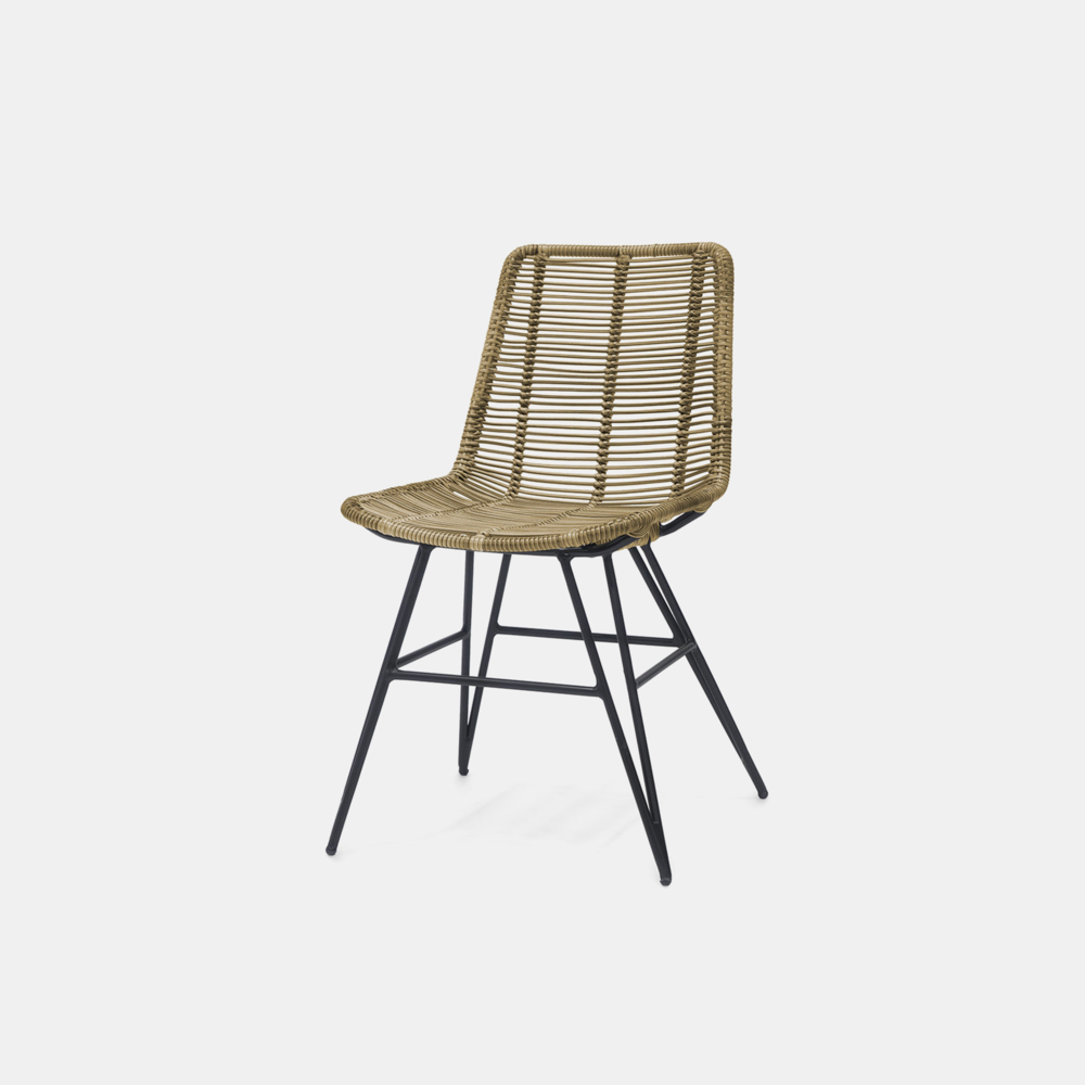 """Hermosa Side Chair  19.5""""w x 24""""d x 32.5""""h Available in natural brown and grey. Also available as arm chair, lounge chair, stool, bench, counter stool, and bar stool."""