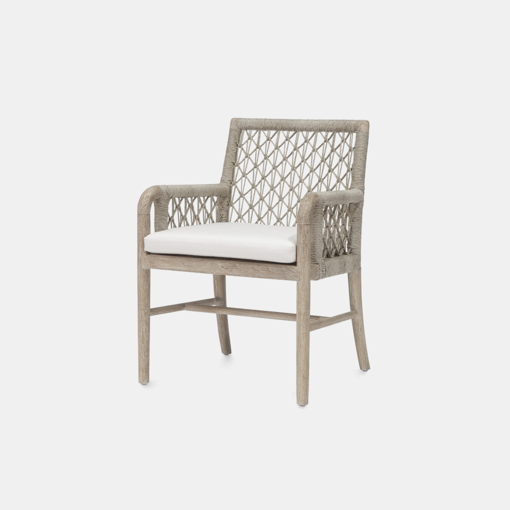 """Montecito Arm Chair  23.75""""w x 24""""d x 33.25""""h Also available as side chair, lounge chair, sofa, counter stool, and bar stool. SKU5857PLK"""
