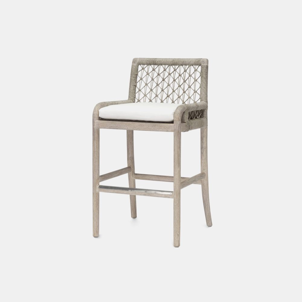 """Montecito Bar Stool  21.75""""w x 21""""d x 41.25""""h Also available as side chair, lounge chair, arm chair, sofa, and counter stool. SKU18473PLK"""