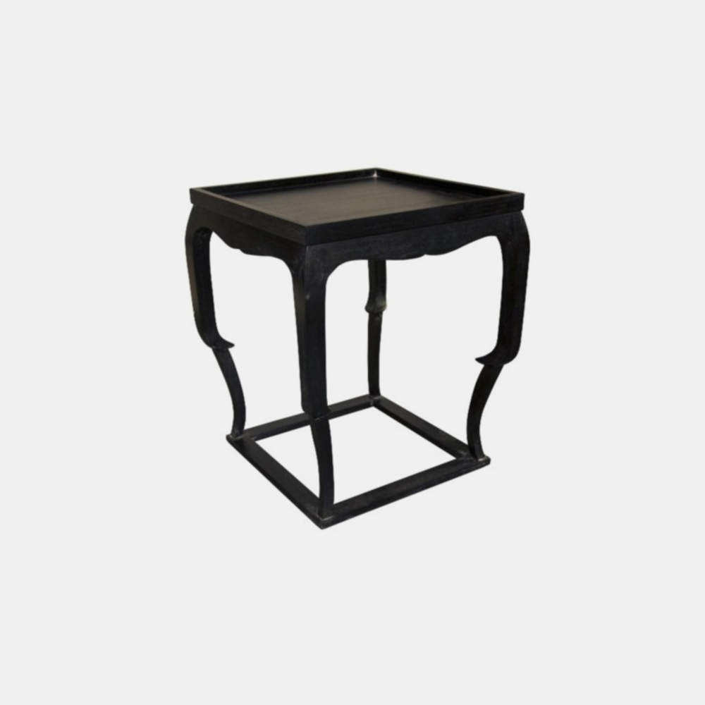 "Bellini Side Table  24""sq x 28"" Available in black (shown) or white wash."