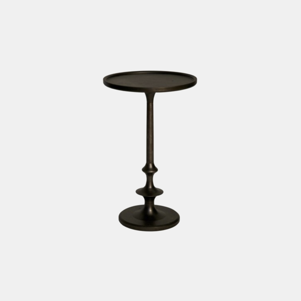 "Terni Cast Iron Side Table  12"" round x 20"" h"