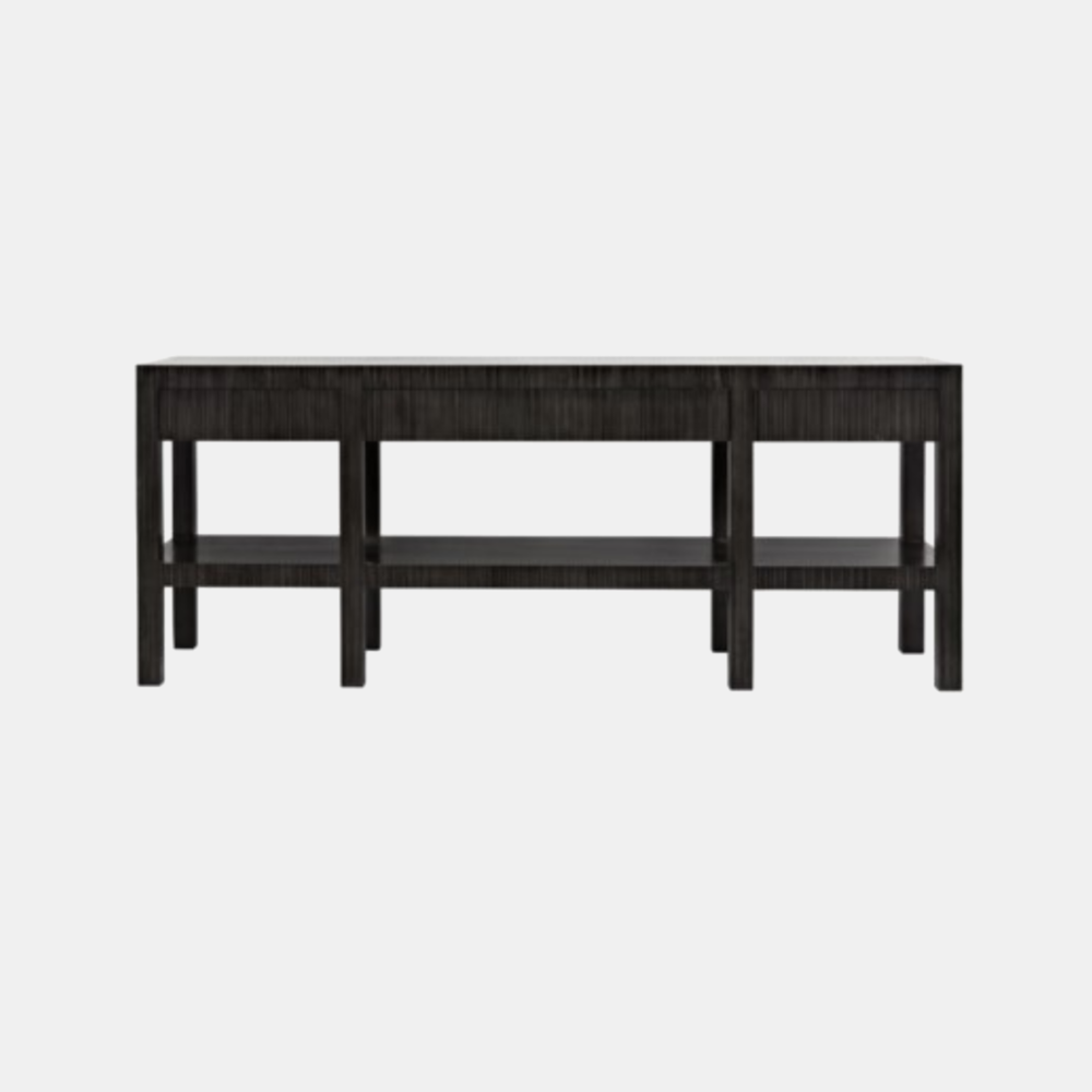 """Conrad Console  81""""l x 20""""d x 32.5""""h Also available as 9-drawer and 6-drawer dressers."""