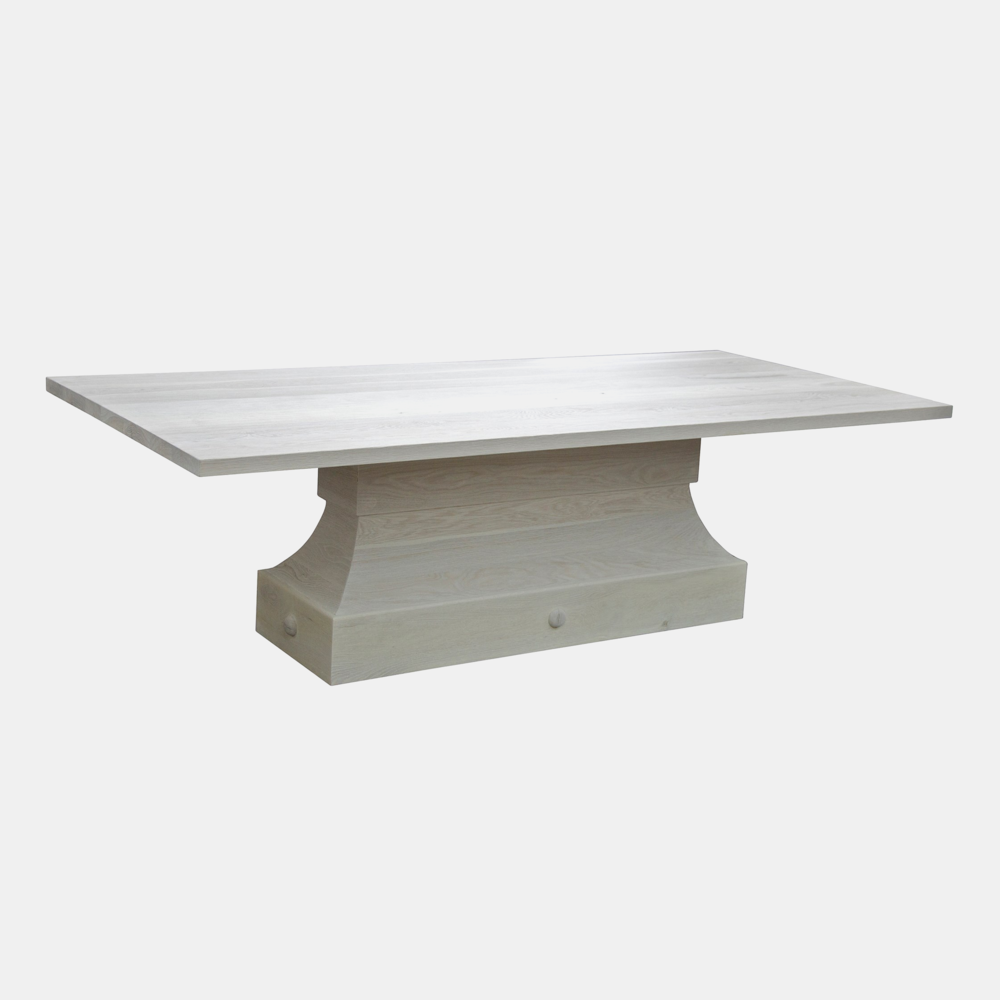 "Zinnia Dining Table  102""l x 46""w x 30.5""h (shown) or 60"" sq x 30.5""h"