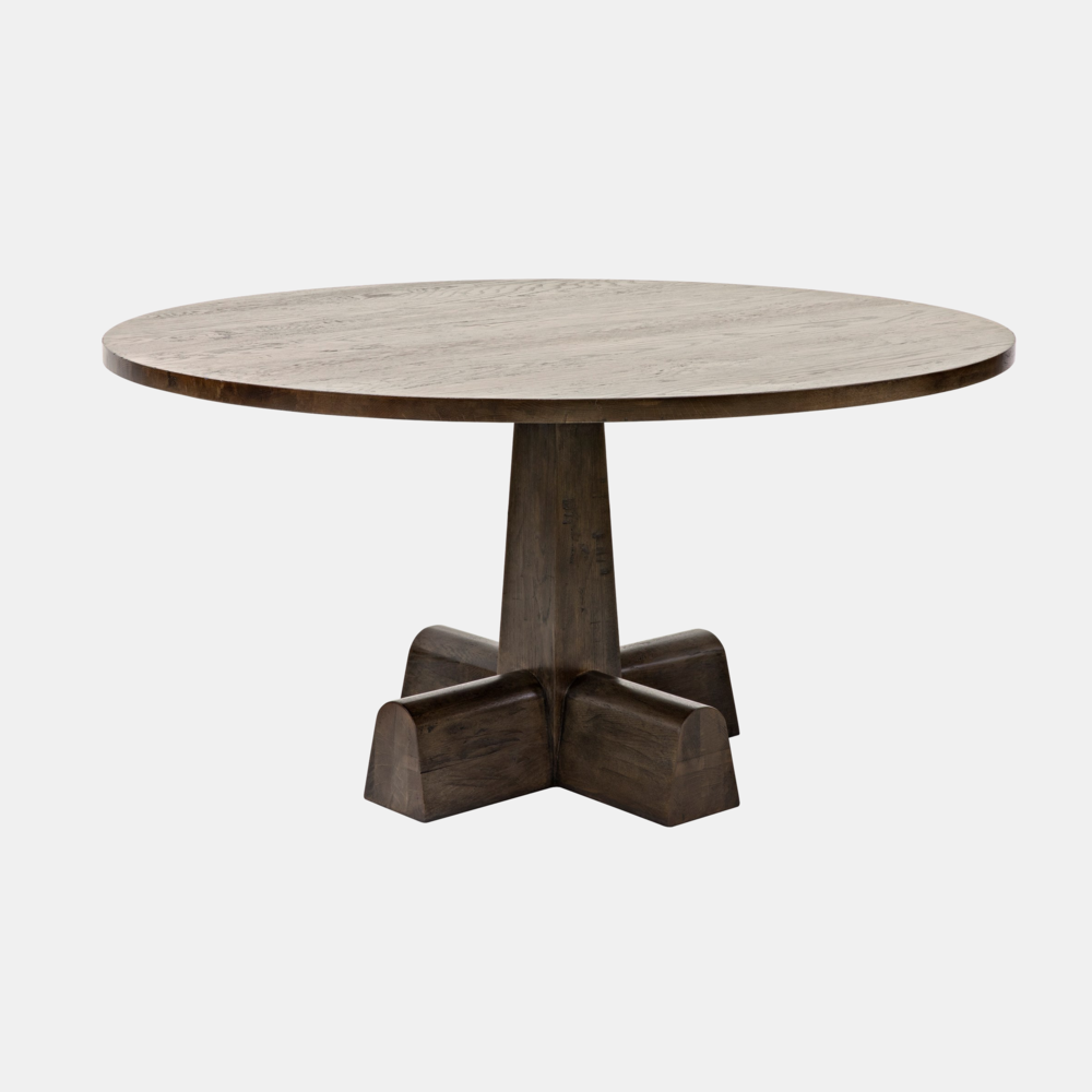"""Camellia Dining Table  60"""" round x 31""""h Also available as side table in washed oak."""