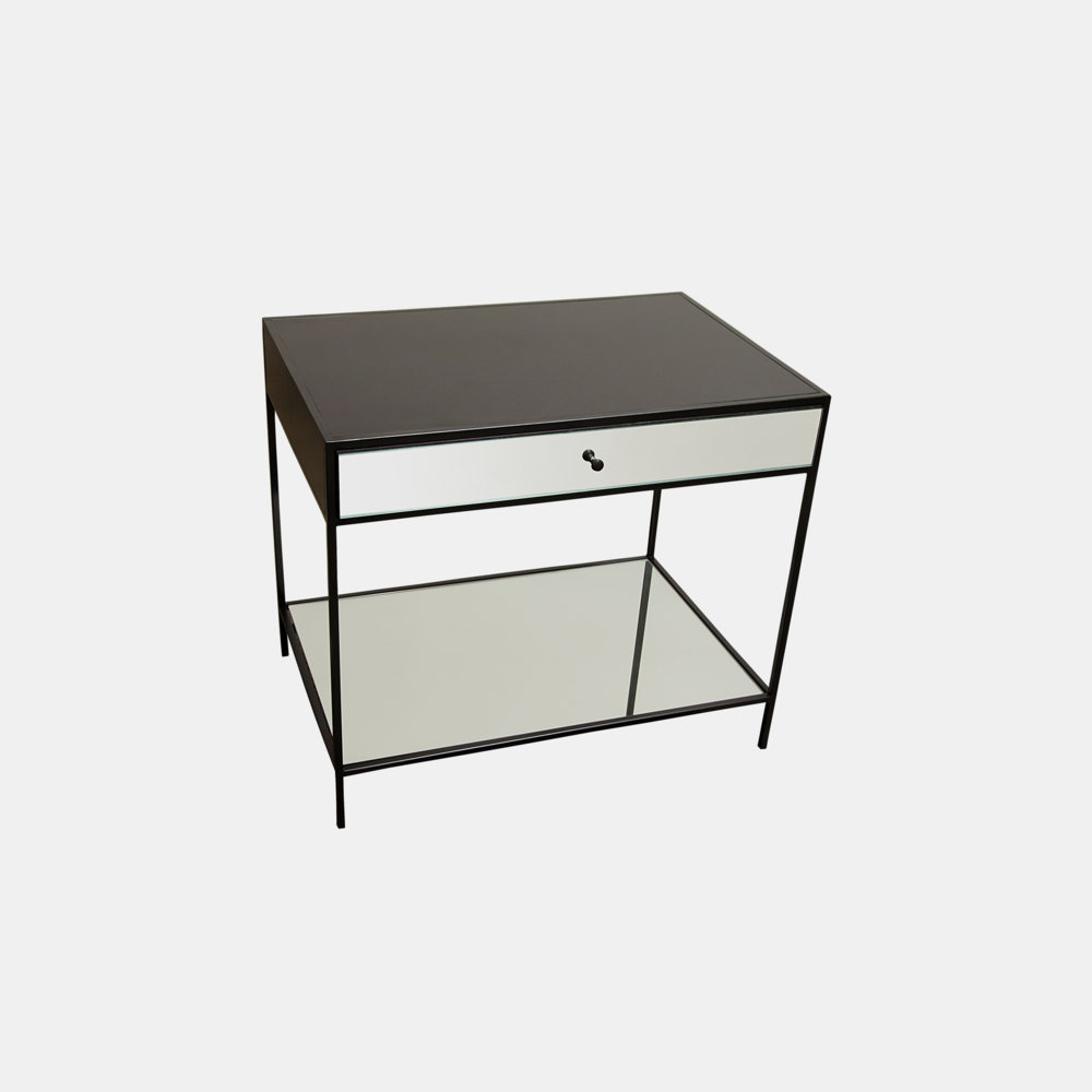 "Mallory Nightstand  30""l x 20.5""d x 26""h Also available as coffee table, console, and 3-drawer dresser."