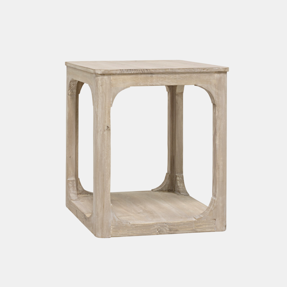 "Gimso Side Table  22""l x 22""d x 26.5""h  Also available as coffee table (round, square, or rectangular), bookcase, and console."