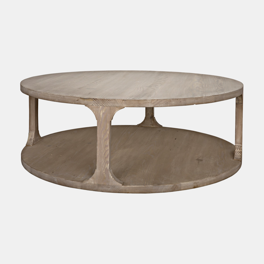 "Gimso Round Coffee Table  48"" or 40"" round x 17""h Also available square, small rectangular, and large rectangular coffee tables, side table, console, and bookcase."