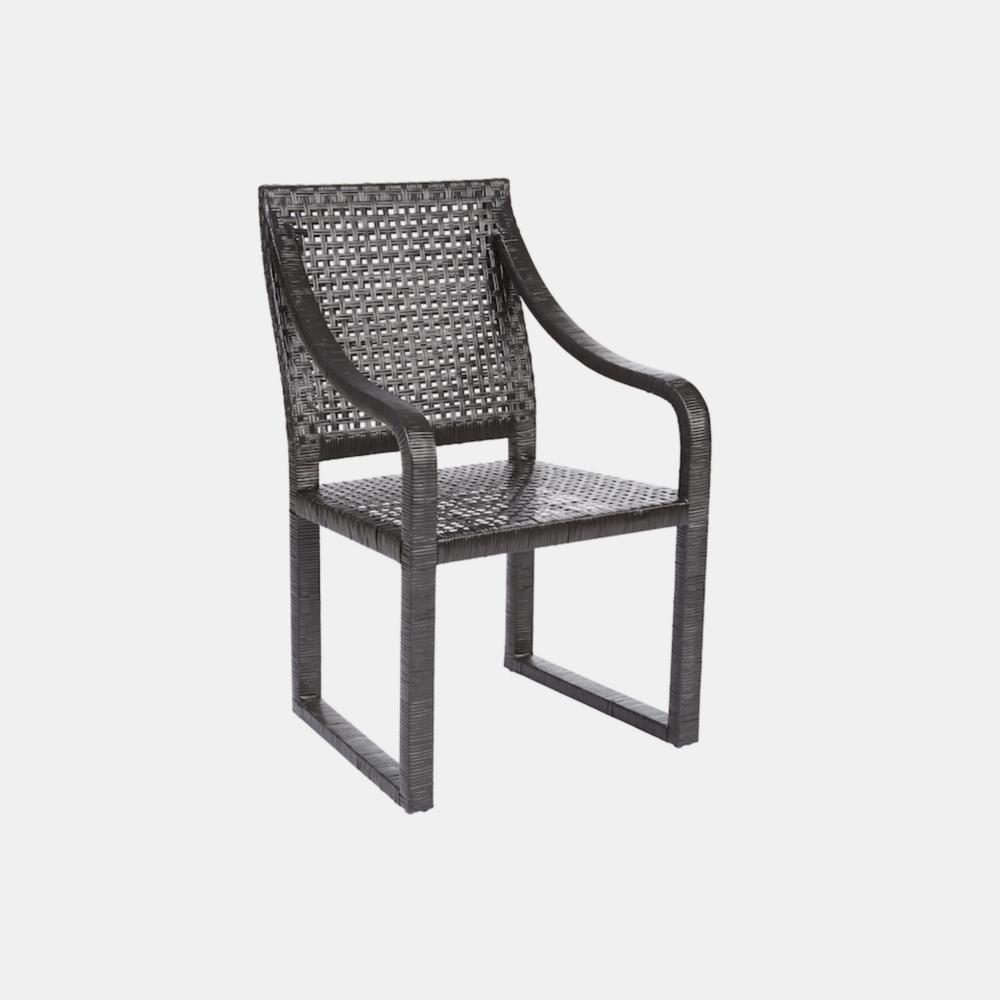 """Barcelona Chair  23""""w x 24""""d x 38""""h Available in black (shown) and natural."""