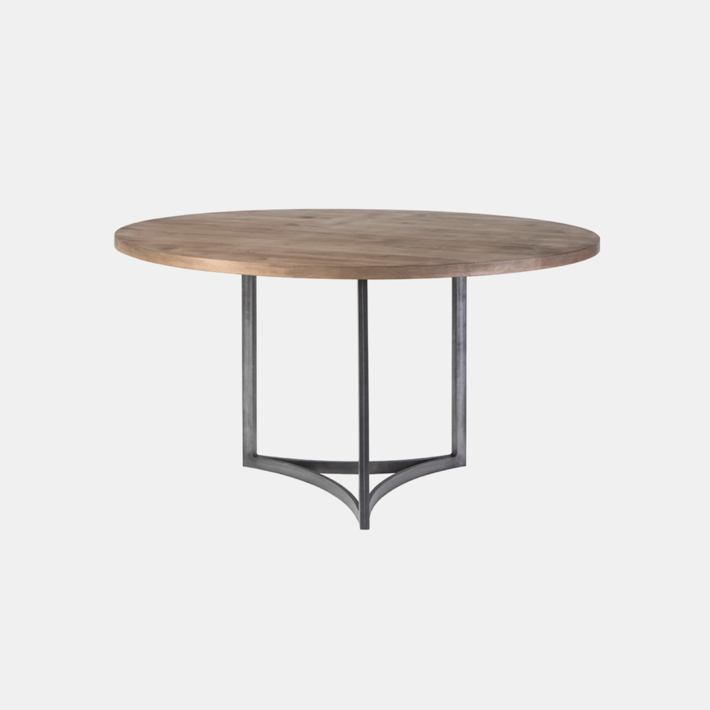 """Manhattan Dining Table  48"""", 54"""" or 60"""" round x 30.5""""h Available in several top and base finishes. Also available as oval and rectangular dining tables, coffee table, and desk."""