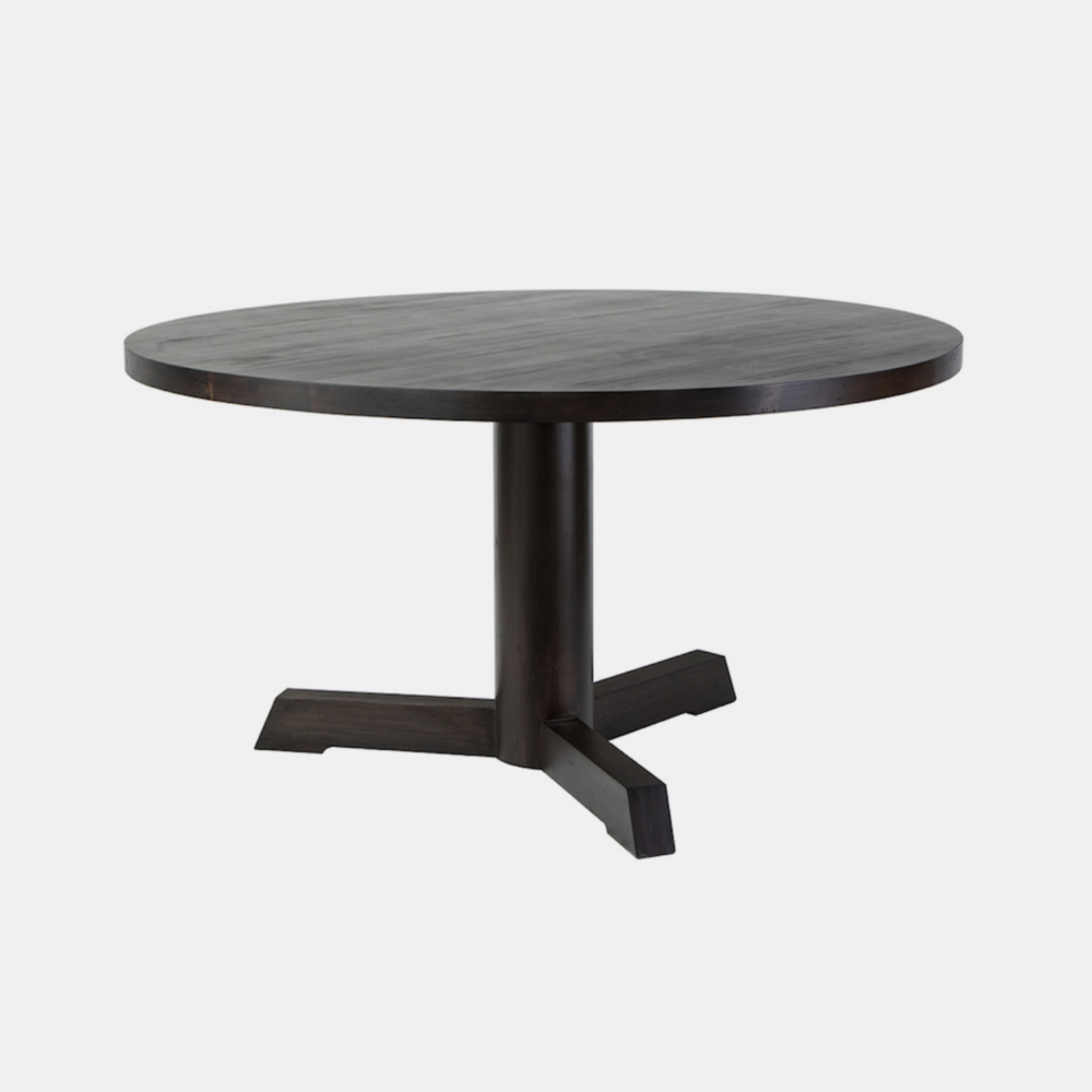 """Edwin Dining Table  54"""" or 60"""" round x 30.5"""" h Available in several finishes."""