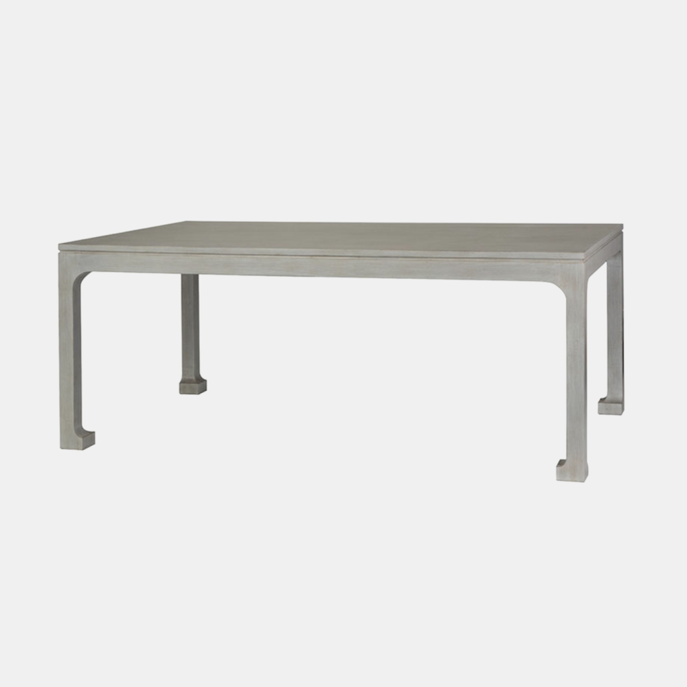 """Morris Dining Table  72""""l x 42""""w x 30""""h Available in several finishes. Also available as side table, console, and square and rectangular coffee tables."""