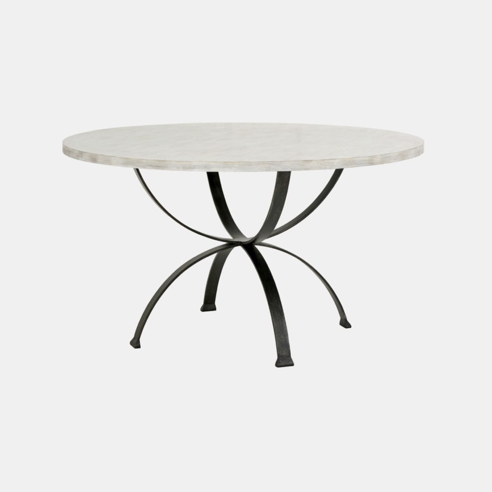 """Sophia Dining Table  44"""", 48"""", 54"""" or 60"""" round x 30""""h Available in several top and base finishes. Also available as square dining table."""