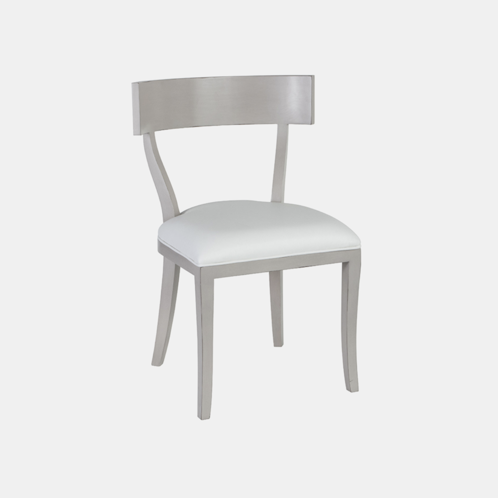 """Thomas Chair  20""""w x 19""""d x 32""""h Available in several wood finishes and fabric, leather, muslin, or COM."""