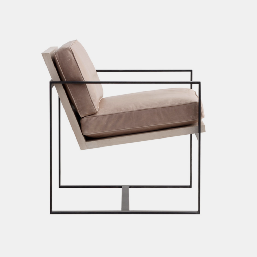 """Manhattan Chair  28""""w x 28""""d x 32""""h Available in several wood, metal, fabric, and leather finishes or COM."""