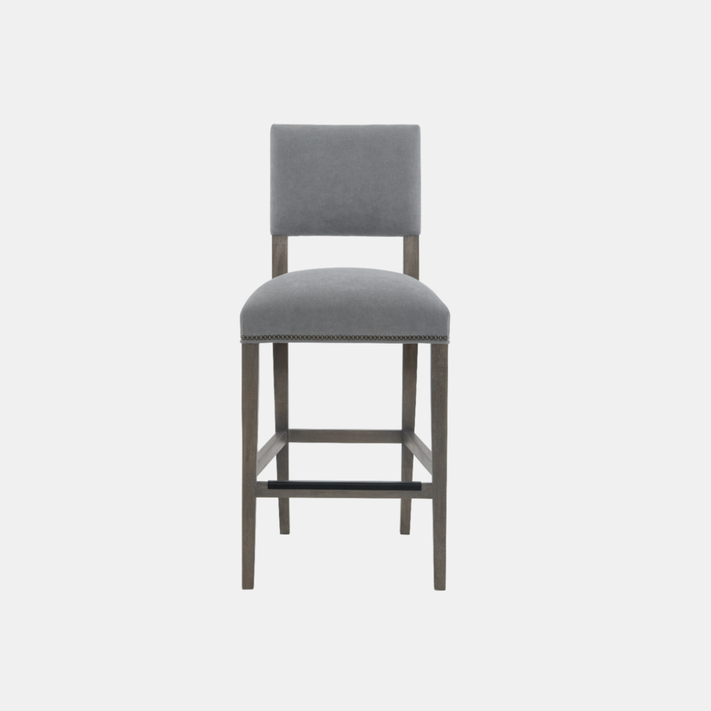 """Moore Bar Stool  20-5/8""""w x 23""""d x 47""""h Available in fabric and leather. Also available as counter stool, side chair, and arm chair."""