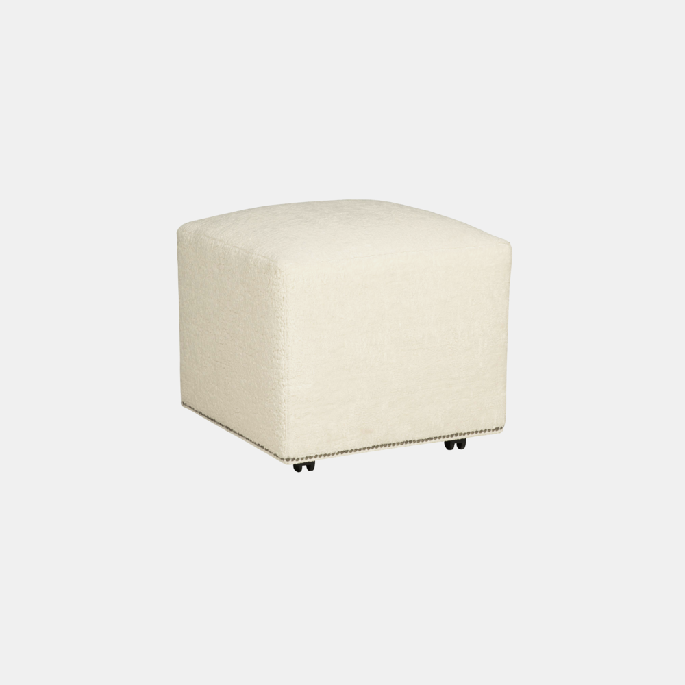 """Lolo Square Ottoman  22"""" or 40"""" square x 19""""h Available in leather and fabric. Available with or without nailheads."""