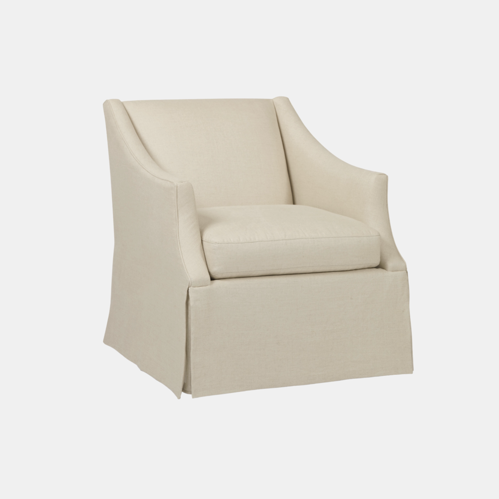 """Clayton Chair  29""""w x 35""""d x 33""""h Available in fabrics or COM. Also available as swivel."""