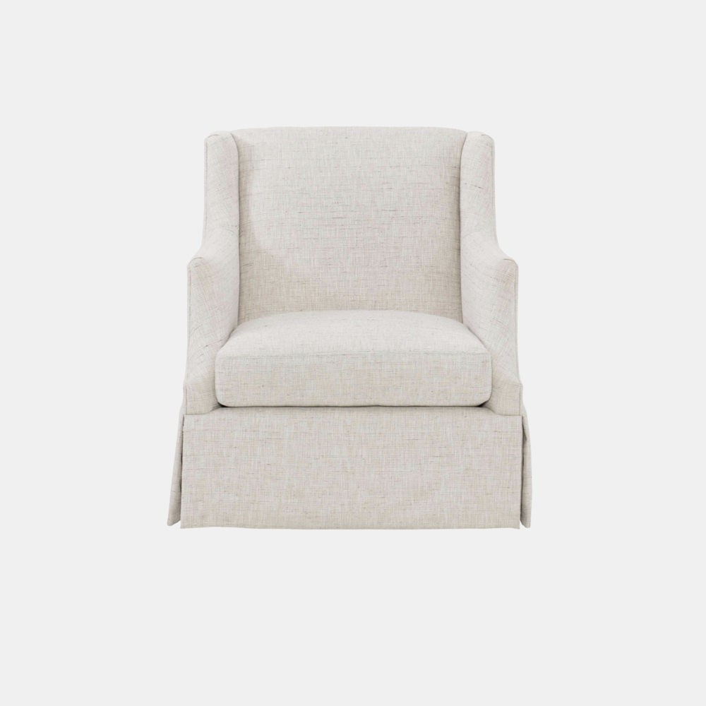 """Sabrina Swivel Chair  30""""w x 34""""d x 34.5""""h Available in fabrics or COM."""