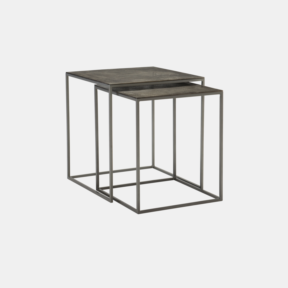 "Eaton Nesting Tables  24"" square x 26""h Also available as 3 nesting cocktail tables."