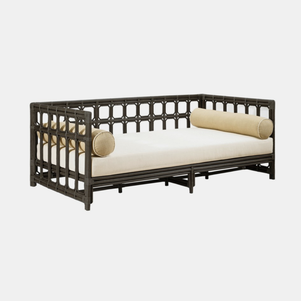 Regeant Daybed  78.5''l x 42.5''d x 30''h Available in clove (shown) and nutmeg.