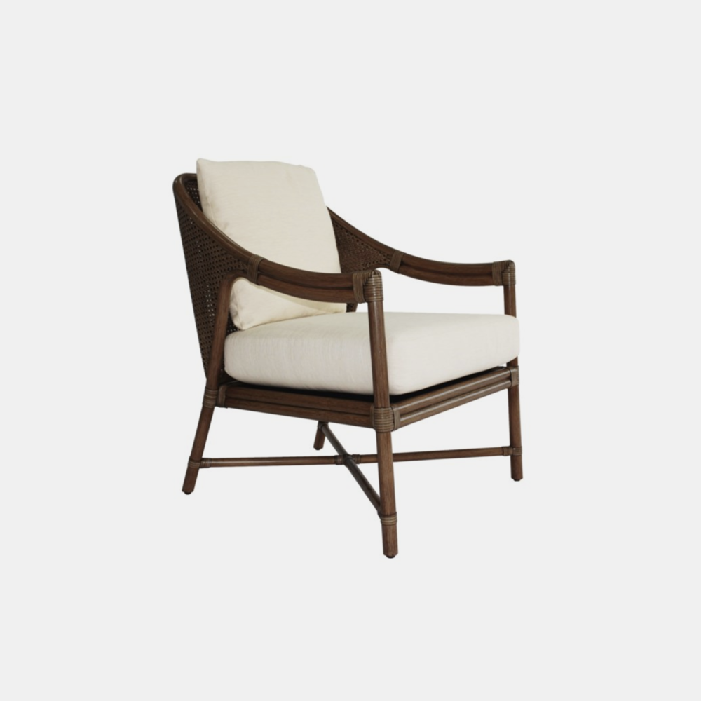 Linwood Chair  27.5'' x 28'' x 34'' Available in cinnamon (shown) and nutmeg.