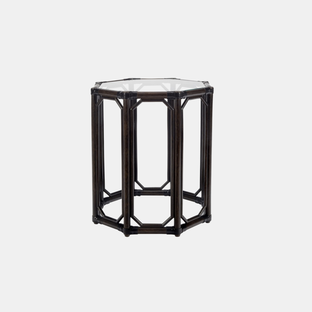 "Regeant Octagonal Side Table  19.5"" round x 22"" h Available in clove (shown), cinnamon, nutmeg, and white. Also available as square side table."