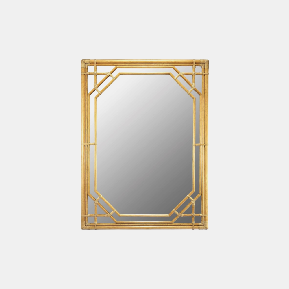 "Regeant Rectangular Mirror  36"" x 48"" Available in clove (shown) and nutmeg."