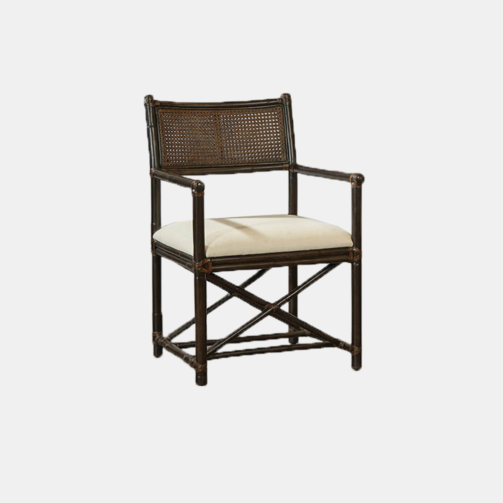 """Rattan & Cane Arm Chair  22""""w x 20.5""""d x 36""""h Also available as side chair."""